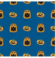 seamless pattern from pumpkins with spider vector image