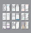 set dl flyers with different geometric shapes vector image vector image