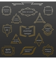Set of geometric vintage labels with place for vector image