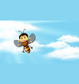 sky background with bee flying vector image vector image