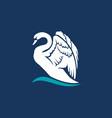 swan logo sign emblem-16 vector image vector image