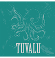 Tuvalu Octopus Retro styled image vector image vector image