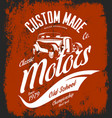 vintage custom hot rod motors logo concept vector image vector image
