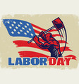 vintage style labor day vector image vector image