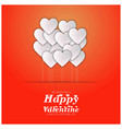 we wish you a happy valentine card with orange vector image