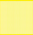 yellow tablecloths patterns on the background vector image