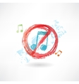 ban music grunge icon vector image
