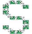 football letter s vector image