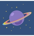 Planet Saturn with Stars in Outer Space vector image