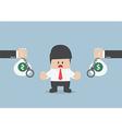 Businessman do not accept loan offer vector image