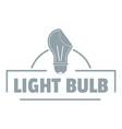 light idea logo simple gray style vector image