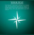 wind rose compass for travel navigation design vector image