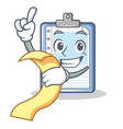 with menu clipboard character cartoon style vector image