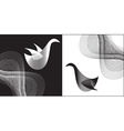 abstract bird vector image vector image