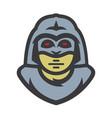 alien warrior cartoon vector image vector image