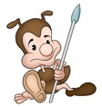 ant holding spear vector image vector image