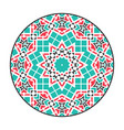 asian geometric mandala frame vector image vector image