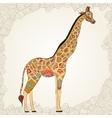 Beautiful adult Giraffe Hand drawn vector image