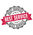 best service stamp sign seal vector image vector image