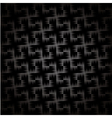 Black and white carbon texture background vector image vector image