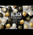 black friday sale promotion poster or banner with vector image vector image