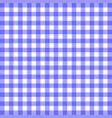 blue gingham material vector image