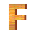 brick letter F vector image vector image