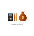 Budget money count financial calculator pencil and vector image vector image