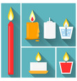 candle icon set vector image vector image