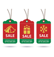 christmas sale tags flat design vector image