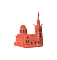 church cathderal isolated vector image vector image