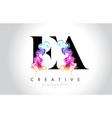 ea vibrant creative leter logo design vector image vector image