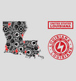 electrical mosaic louisiana state map and vector image vector image