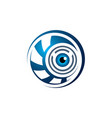 eye symbol blue security guard browser web logo vector image