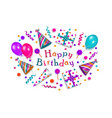happy birthday greeting card banner poster design vector image vector image