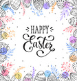 Happy easter frame vector image vector image