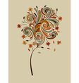 highly detailed autumn tree vector image vector image