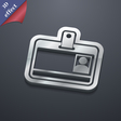 Id card icon symbol 3D style Trendy modern design vector image