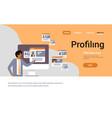 indian man choosing different user job vacancy vector image vector image
