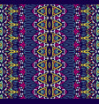 indian striped textile design vector image vector image