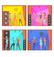 karaoke party compositions set vector image vector image