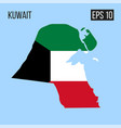 kuwait map border with flag eps10 vector image