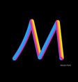 letter abstract blend line logo symbol vector image