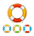 Life Buoy Color Set vector image vector image