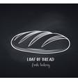 loaf bread chalkboard style vector image vector image