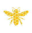 logo a bee stylized logo with a honey bee vector image vector image