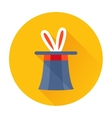 magician hat with rabbit ears icon vector image vector image