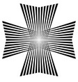 maltese cross symbol of victory and power vector image