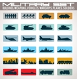 Military Icons Set vector image vector image