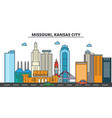 missouri kansas citycity skyline architecture vector image vector image